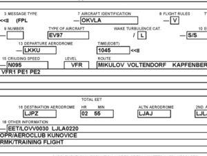 Jak vyplnit letový plán krok za krokem